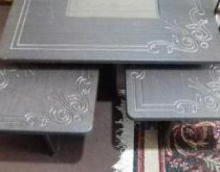یک عدد میز جلو مبلی با 4 عدد گل میز