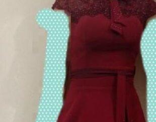 لباس مجلسی زرشکی490مقطوع