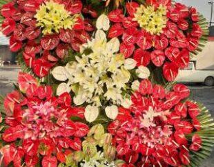 گل فروشی تاج گل ترحیم و جشن